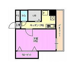甍・林治ビル[4階]の間取り