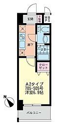 プラティス横須賀[505号室]の間取り