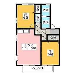 ウィルモア21 A棟[1階]の間取り