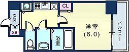 阪急神戸本線 春日野道駅 徒歩3分の賃貸マンション 3階1Kの間取り