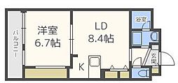 アミティエ博多駅南[9階]の間取り