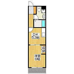 Laka's Fushimi(ラカーシュ伏見)[1階]の間取り