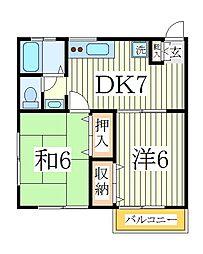 コーポラスNo8[1階]の間取り