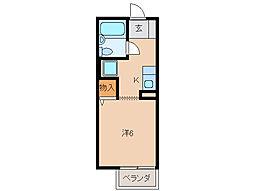 コーポ栄谷[1階]の間取り