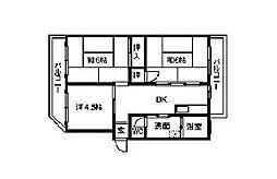 香仙マンション[2階]の間取り