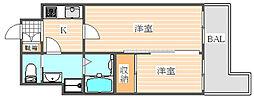 グランフォーレ箱崎ステーションプラザ[6階]の間取り