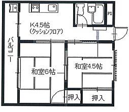 東田ハウス[302号室]の間取り