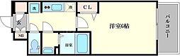 プレサンス梅田北アーリー 5階1Kの間取り