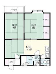 土井丸ホーム[206号室]の間取り