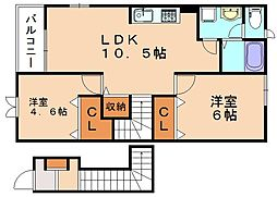 ルレーヴ[2階]の間取り