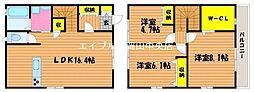 [一戸建] 岡山県岡山市南区新保 の賃貸【/】の間取り