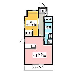 仮)中区正木三丁目自宅併用店舗マンション[4階]の間取り