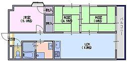 中大路ビル[4階]の間取り