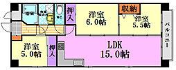 広島県広島市南区的場町2丁目の賃貸マンションの間取り