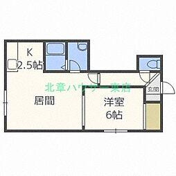 ボナール38[2階]の間取り