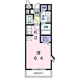 サニーヒルズII[1階]の間取り