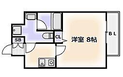 大阪府大阪市浪速区芦原1丁目の賃貸マンションの間取り
