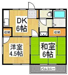 翔コーポ[2階]の間取り