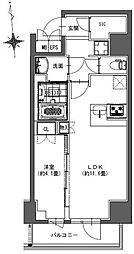 S-RESIDENCE東神田 6階1LDKの間取り