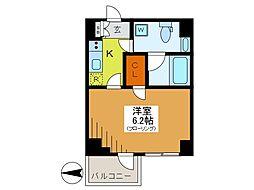東京都府中市八幡町2丁目の賃貸マンションの間取り