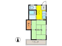 倉林荘[2階]の間取り
