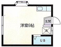 ウイング若草[105号室]の間取り