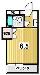 ハイツ茶山[302号室]の間取り
