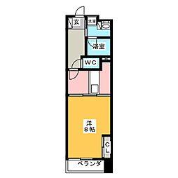 POWERHOUSE the residence 6階1DKの間取り