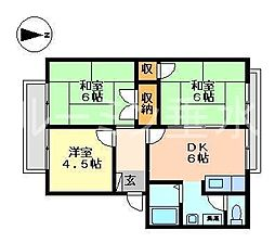グリーンルミナスA棟[2階]の間取り