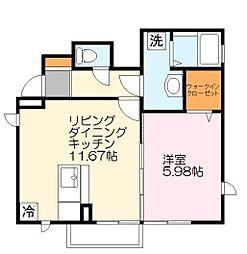 神奈川県川崎市多摩区中野島5丁目の賃貸アパートの間取り