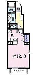 サニーハウス 1階1Kの間取り