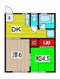 ゴールドマンション[3階]の間取り