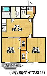 ナルチーゾ2[1階]の間取り