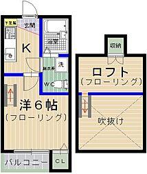 エムビル松香台2[101号室]の間取り