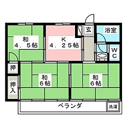 タウン80[2階]の間取り