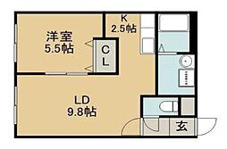 メゾン・ド・キキ[4階]の間取り