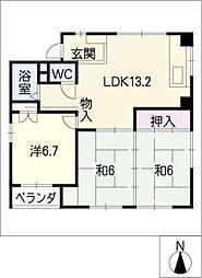 YSH[3階]の間取り