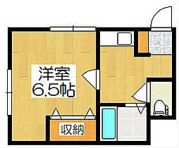 京都府京都市伏見区深草キトロ町の賃貸アパートの間取り