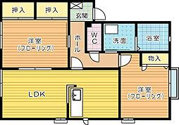 ファンテージ21 A棟[102号室]の間取り