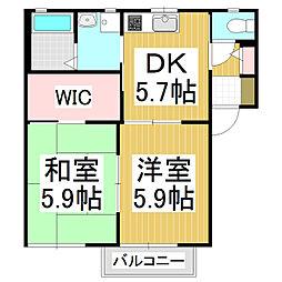 アークトゥルスA棟[2階]の間取り