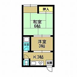 岩本マンション[2階]の間取り