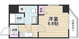 京成押上線 京成立石駅 徒歩10分の賃貸マンション 6階1Kの間取り