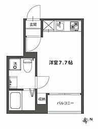 JR中央本線 国分寺駅 徒歩13分の賃貸アパート 1階1Kの間取り