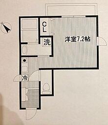 平川共同住宅[201号室]の間取り