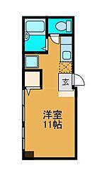 神奈川県相模原市中央区矢部4丁目の賃貸アパートの間取り