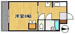 サンローヤル萩丘[1階]の間取り