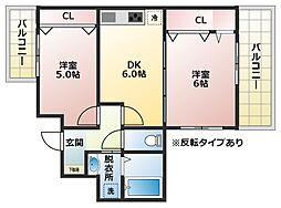 ブロードエトワール[2階]の間取り