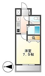 KWレジデンス名駅南[5階]の間取り