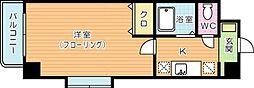 ネット志徳 3階1Kの間取り