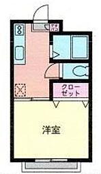 神奈川県海老名市国分北1丁目の賃貸アパートの間取り